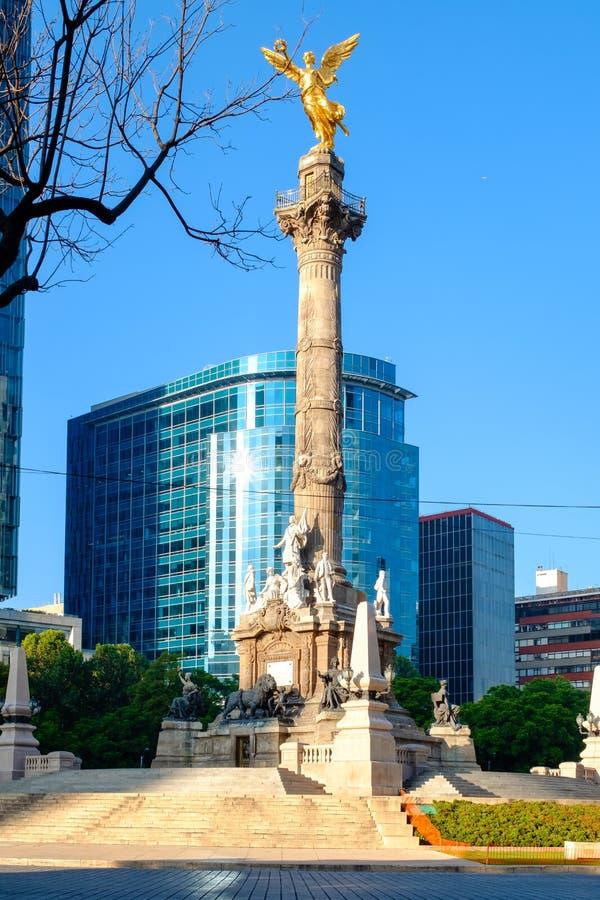L'ange de l'indépendance, un symbole de Mexico images libres de droits