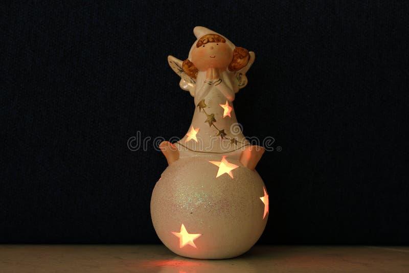L'ange de Noël image stock