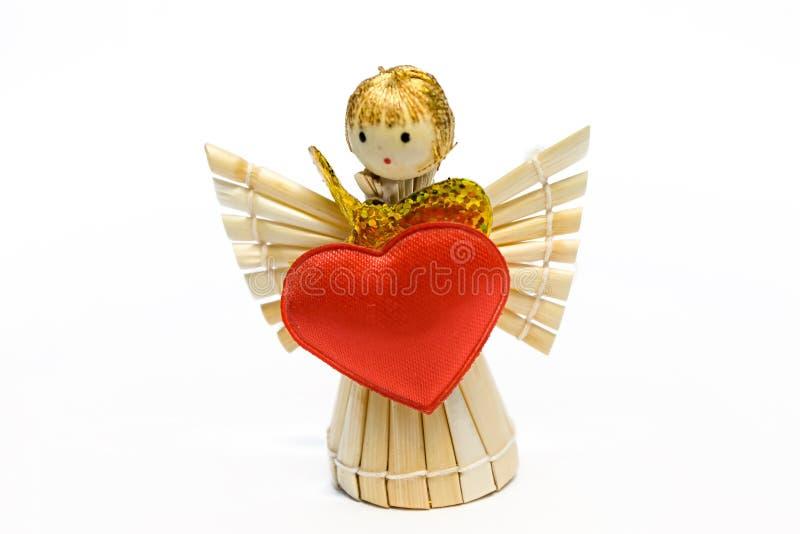L'angelo con cuore fotografia stock