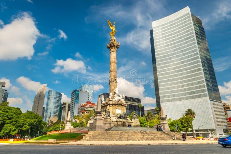 L'angelo di indipendenza in Città del Messico immagine stock