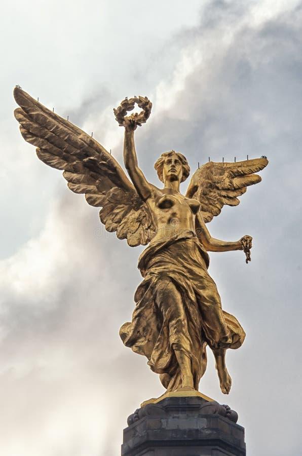 L'angelo di indipendenza in Città del Messico, Messico immagine stock