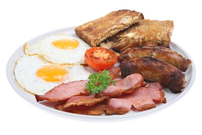 l'anglais de déjeuner a fait frire photo libre de droits