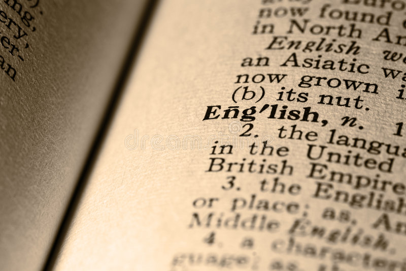 L'anglais de mot photo libre de droits