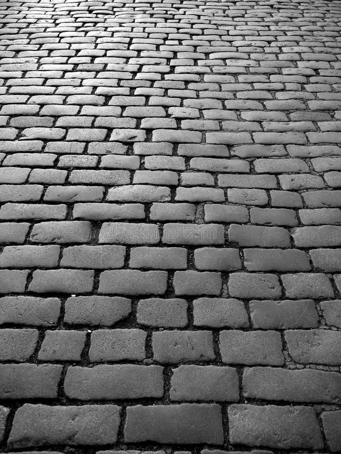 l'Angleterre : pavés ronds sur la vieille rue images stock