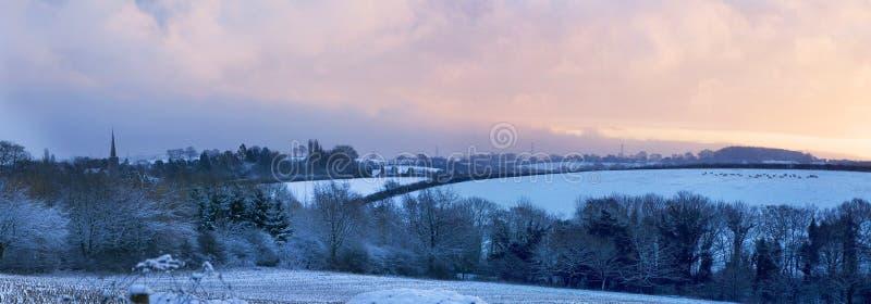 L'Angleterre rurale en hiver images stock