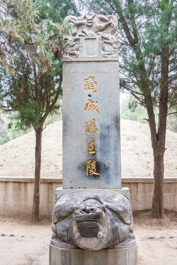 L'ANHUI, CINA - 20 novembre 2015: Tang Emperor Mausoleum (Tangwangling) immagine stock libera da diritti