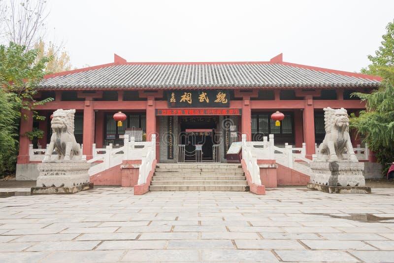 L'ANHUI, CINA - 18 novembre 2015: Tempio di Weiwu un sito storico famoso fotografia stock