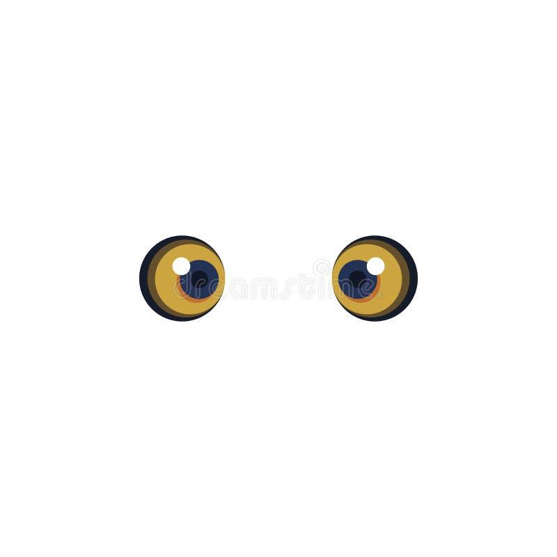 L'animal observe l'icône jaune de couleur Éléments des icônes colorées multi de yeux Icône de la meilleure qualité de conception  illustration libre de droits