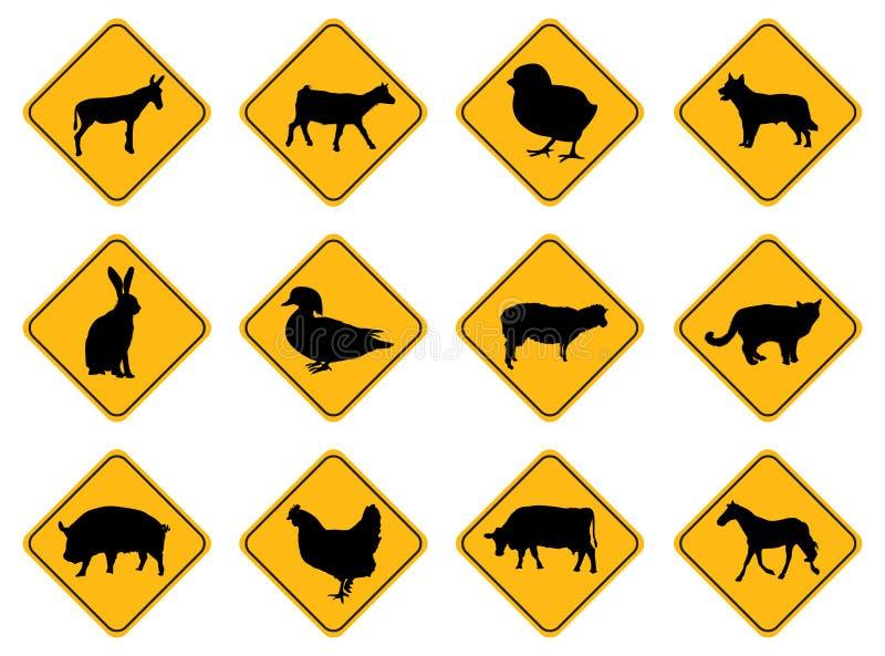 l'animal signe l'avertissement illustration libre de droits