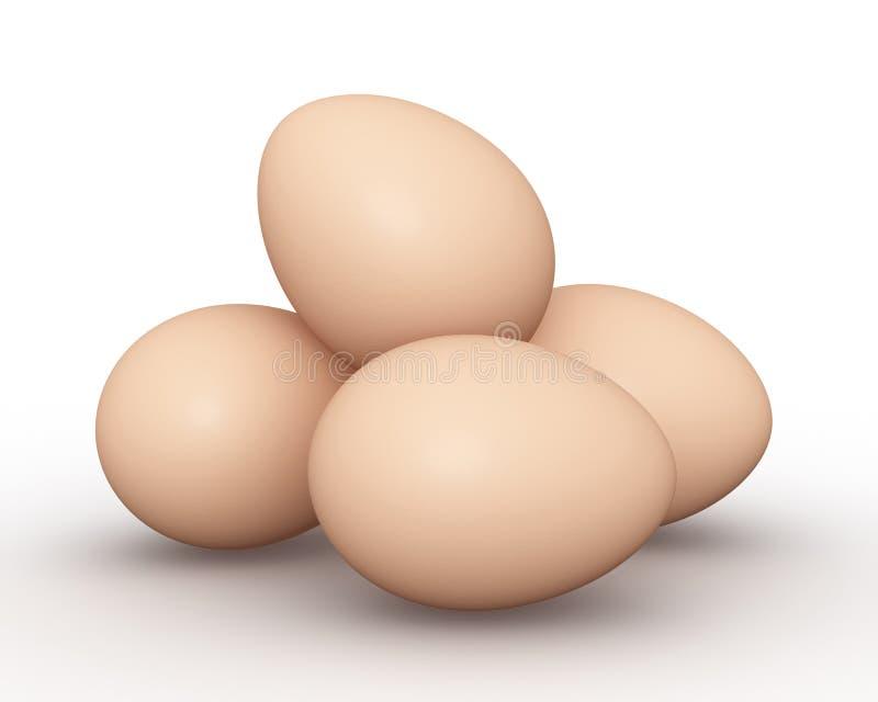 L'animale eggs l'illustrazione di concetto 3d illustrazione vettoriale