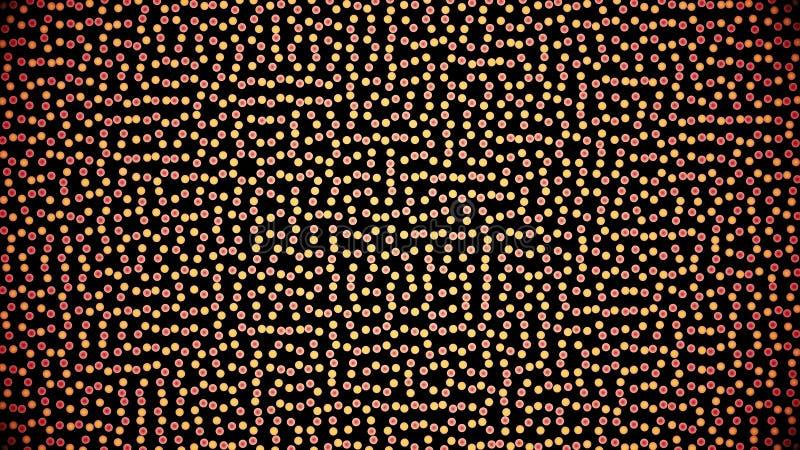 L'animazione delle linee di griglia e quadra generato muovendo intorno a caso adatto ad uso del fondo Un multicolore royalty illustrazione gratis