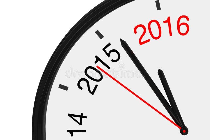 L'année 2016 s'approche illustration libre de droits