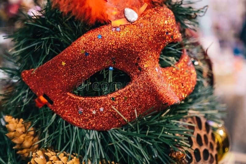 L'annata antica o il retro Natale gioca il fondo della decorazione immagini stock libere da diritti