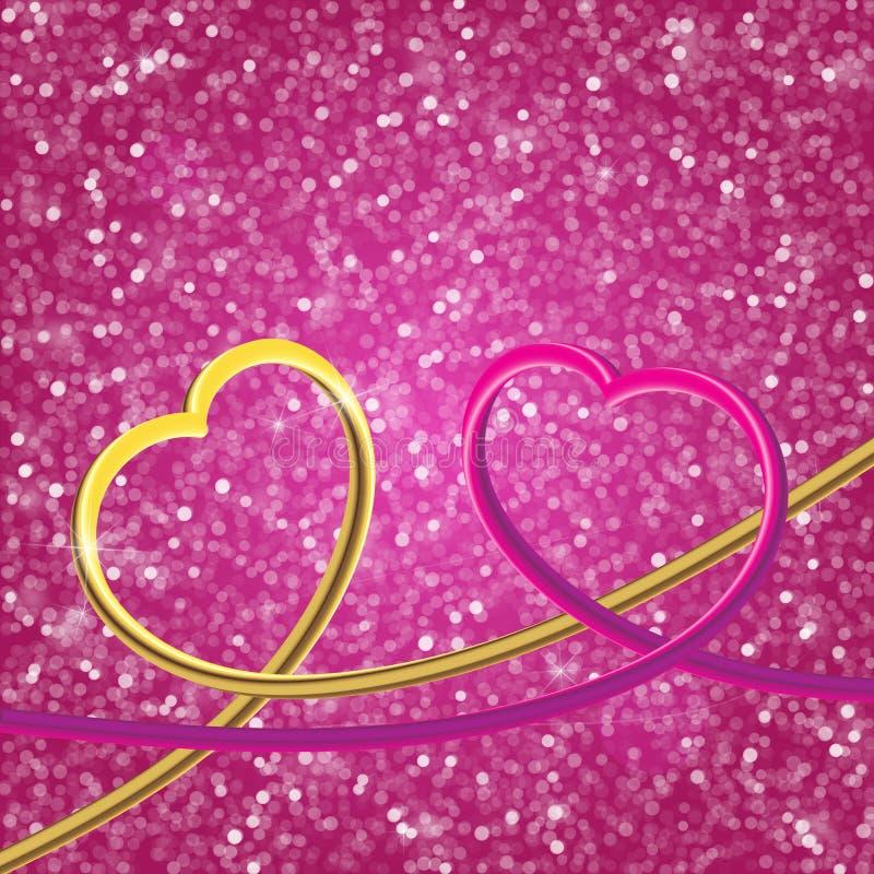L'annata di scintillio accende il fondo argento leggero e rosa Gefoc illustrazione di stock