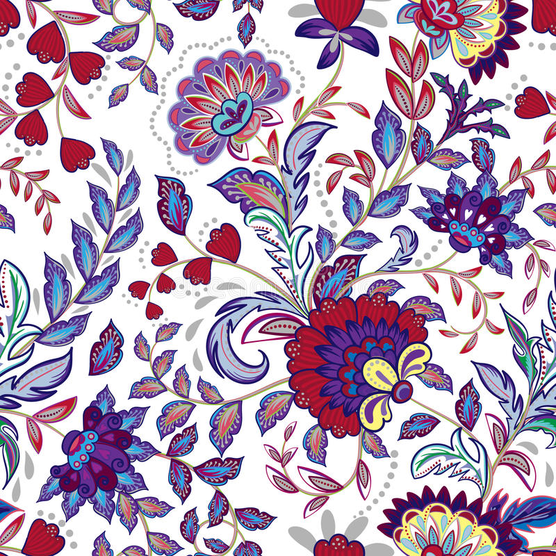 L'annata fiorisce il fondo senza cuciture nello stile della Provenza royalty illustrazione gratis