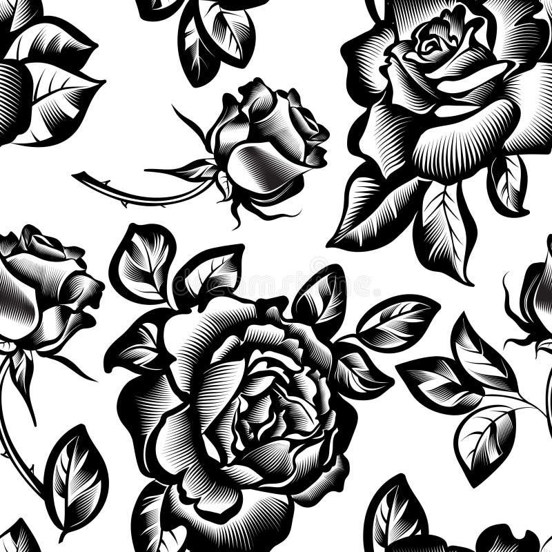 L'annata fiorisce le rose illustrazione vettoriale