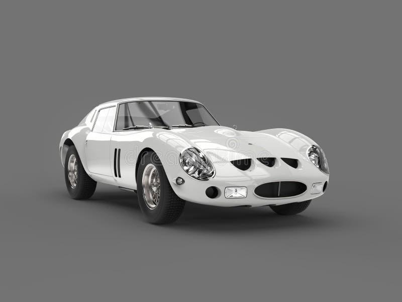 L'annata fresca bianca bassa mette in mostra il colpo automobilistico di bellezza royalty illustrazione gratis