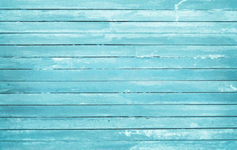 L'annata ha dipinto il fondo di legno della parete, struttura di colore pastello blu con i modelli naturali per l'opera d'arte di immagine stock
