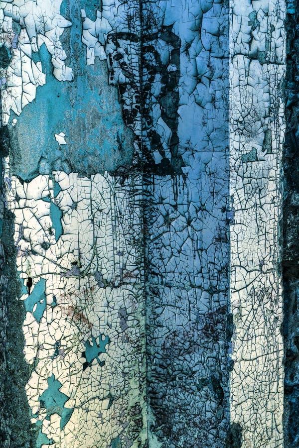 L'annata ha dipinto la struttura di legno del fondo della parete rustica stagionata di legno con la pittura della sbucciatura Spa immagini stock libere da diritti