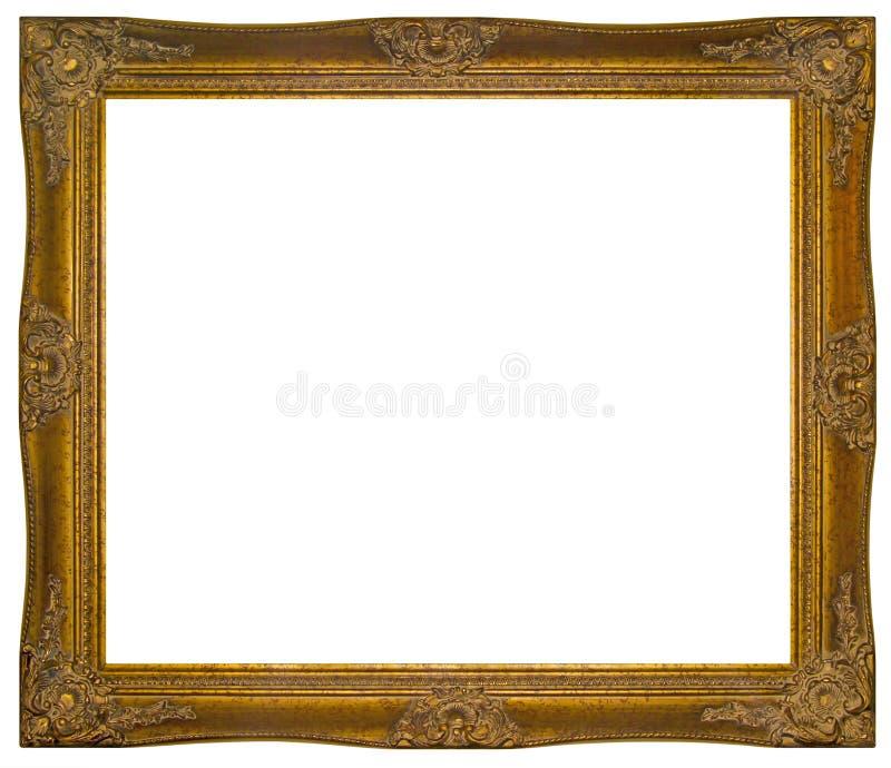 L'annata ha dorato la pagina di legno immagini stock libere da diritti