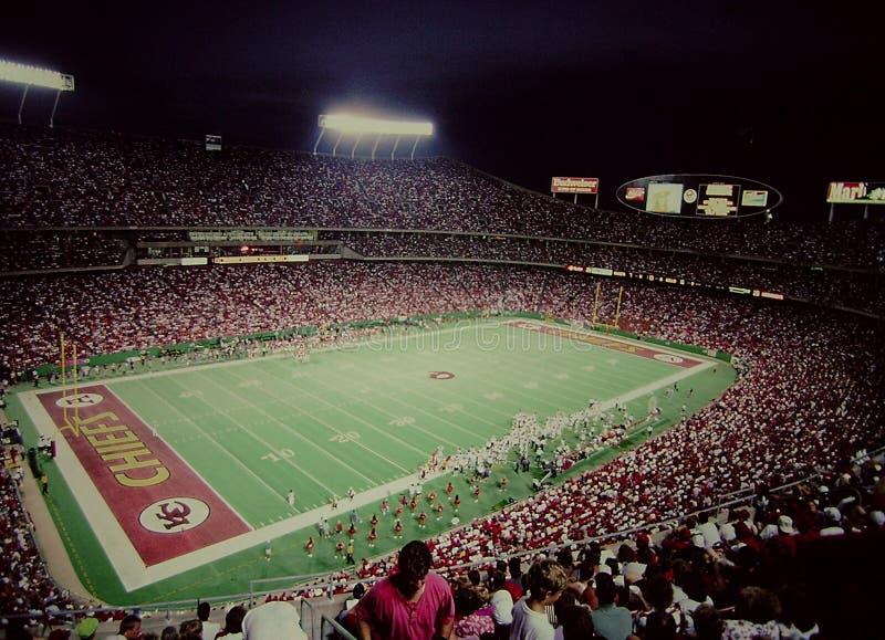 L'annata ha sparato dell'Arrowhead Stadium, Kansas City, Mo immagini stock libere da diritti