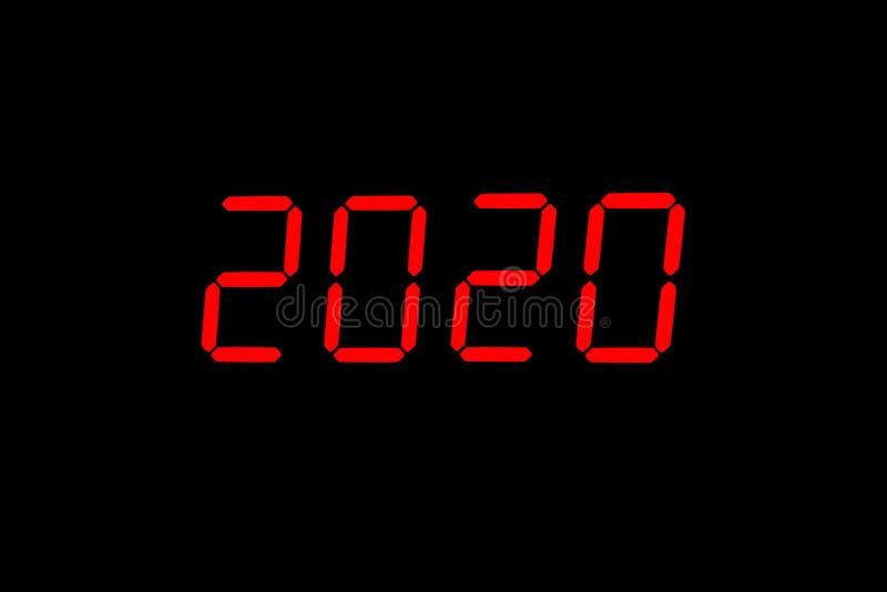 l'anno 2020 immagine stock
