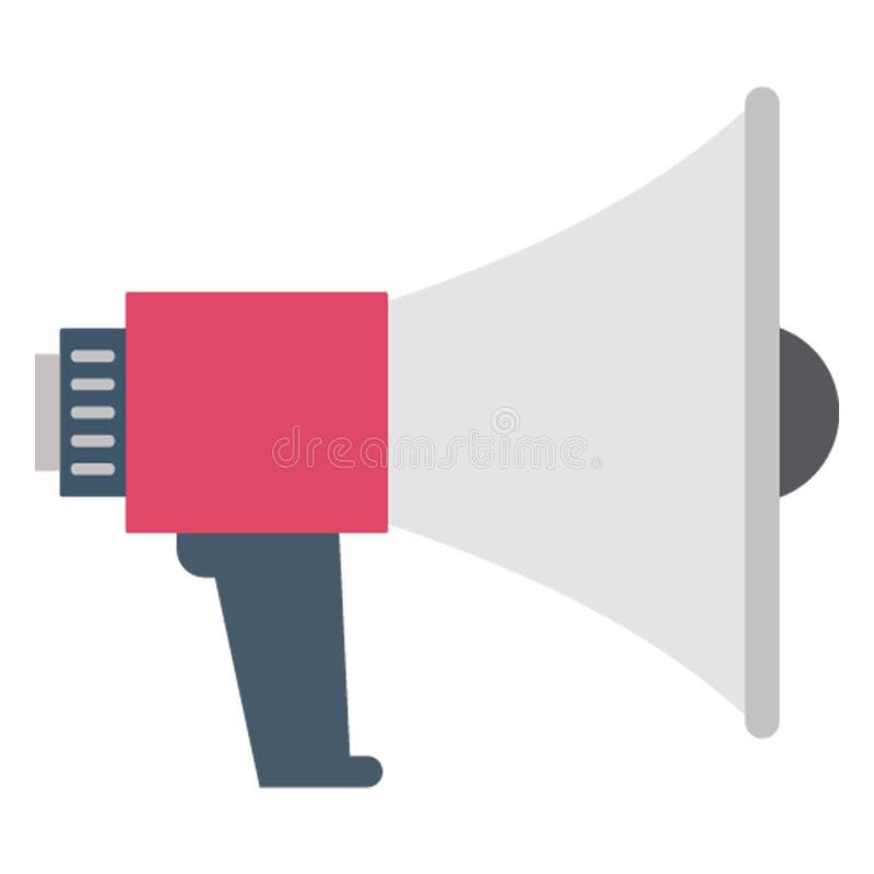L'annonce, haut-parleur a isolé l'icône de vecteur qui peut être facilement éditée illustration stock