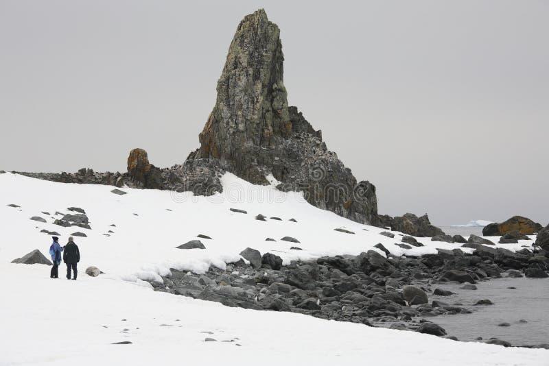 l'Antarctique - touristes d'aventure photographie stock libre de droits