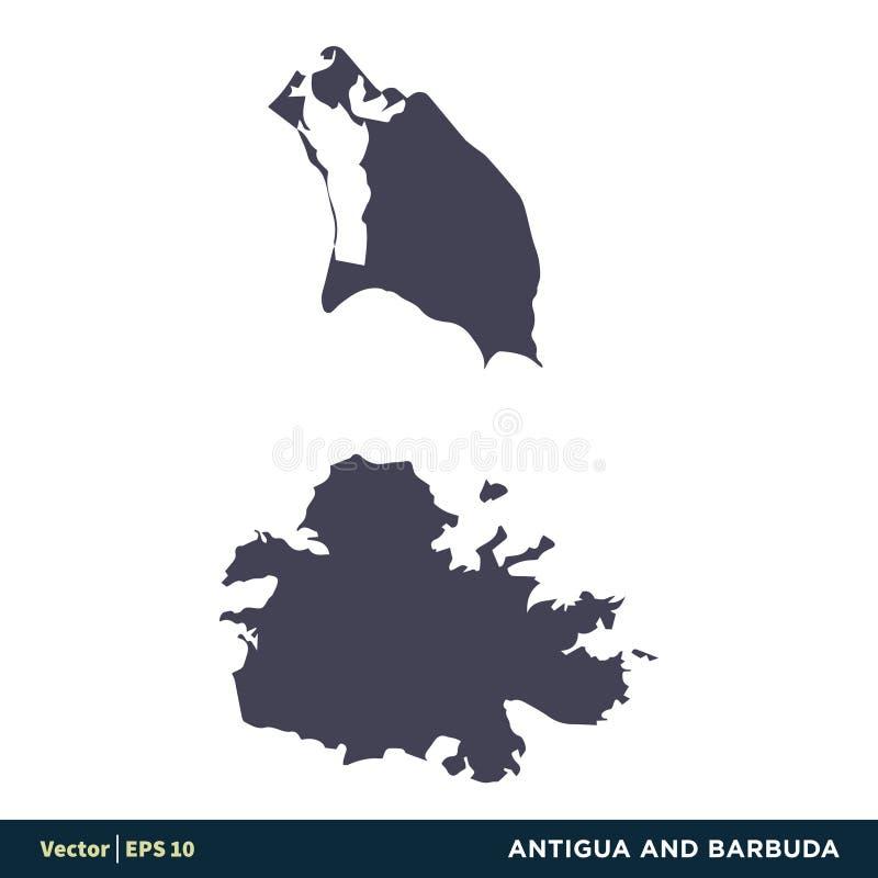 L'Antigua-et-Barbuda - les pays de l'Amérique du Nord tracent le vecteur Logo Template Illustration Design d'icône Vecteur ENV 10 illustration de vecteur
