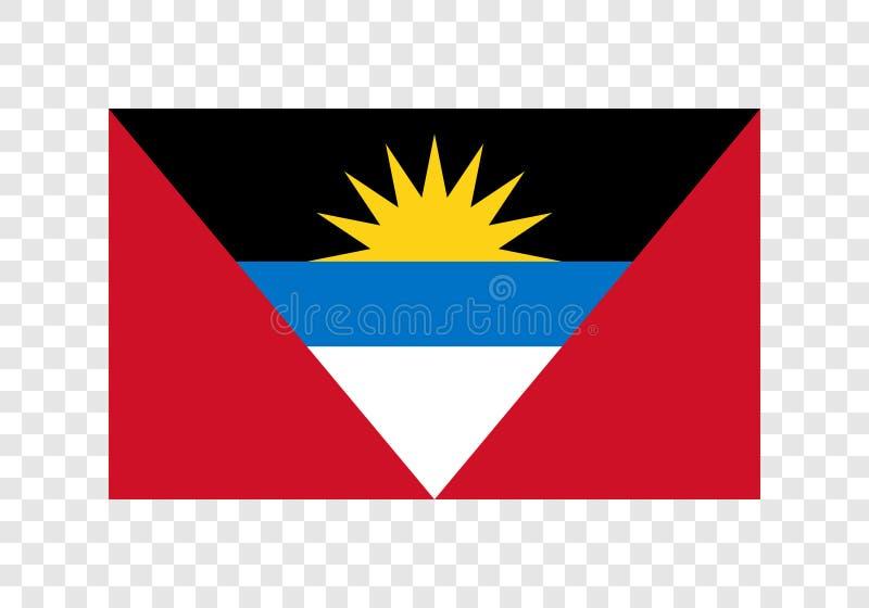 L'Antigua et le Barbuda - drapeau national illustration de vecteur