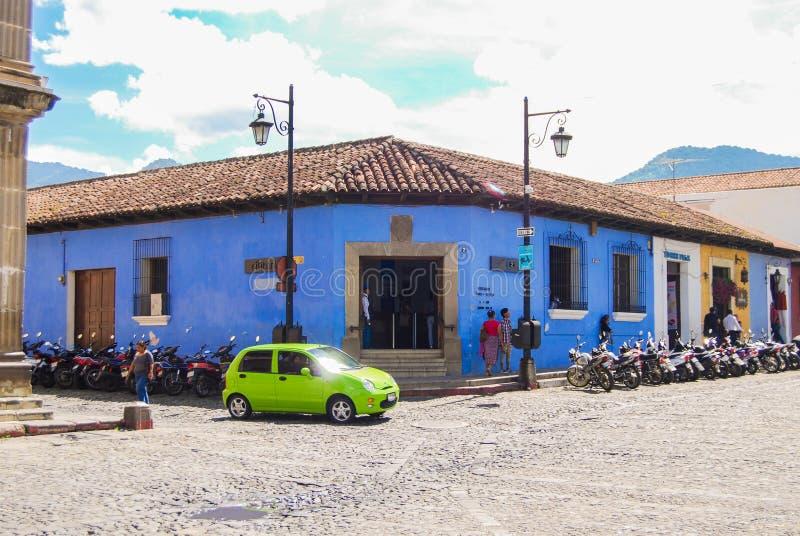 L'Antigua faisant le coin colonial Guatemala images libres de droits