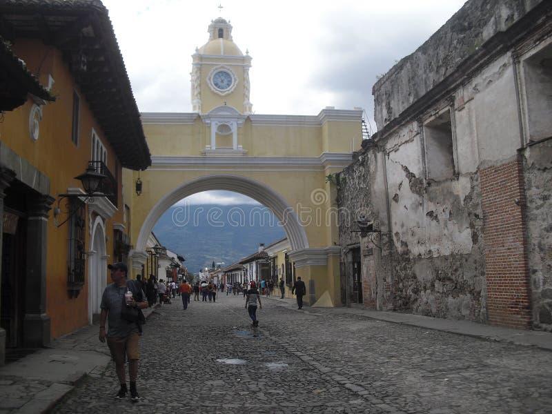 L'Antigua Guatemala la ville coloniale située dans Sacatepequez, Guatemala, Amérique Centrale 11 image stock
