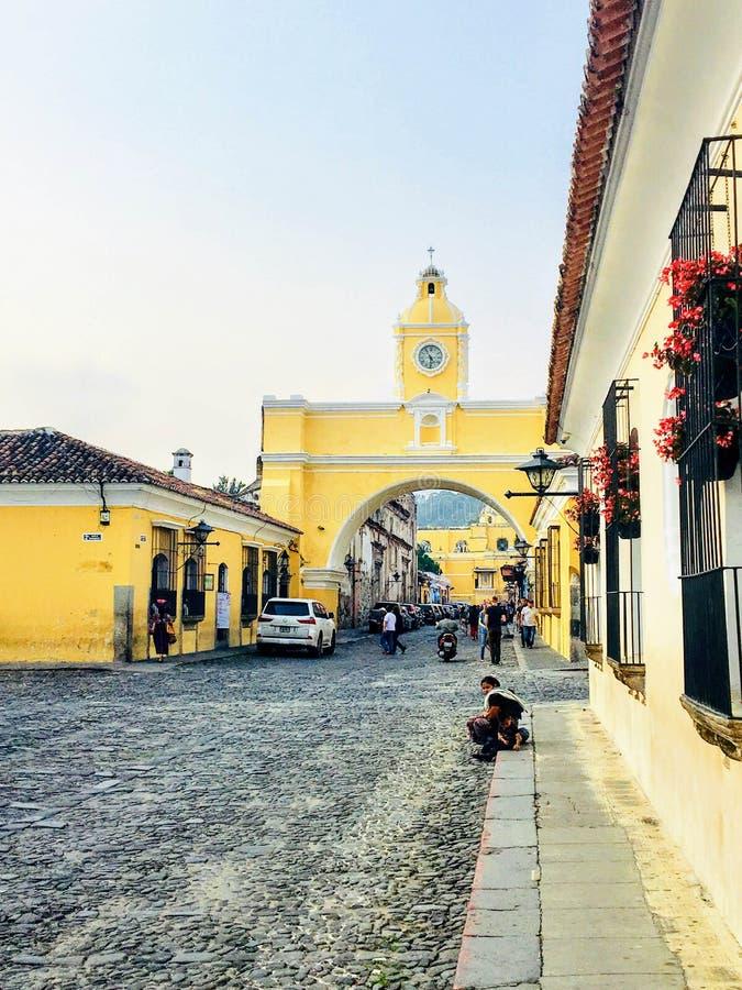 L'Antigua Guatemala, Guatemala - 23 maggio 2018: Un sel locale maya fotografia stock