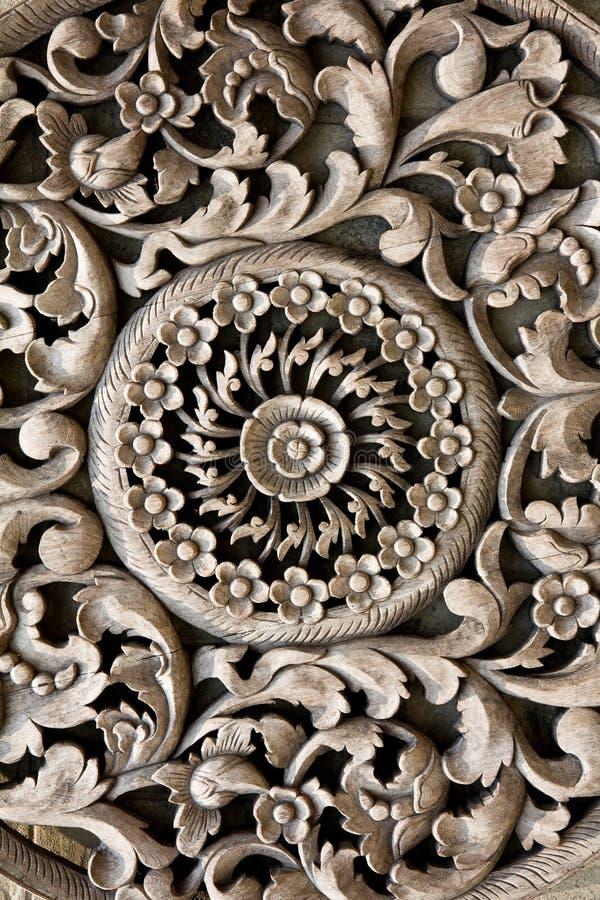 L'antiquité a découpé en bois images stock