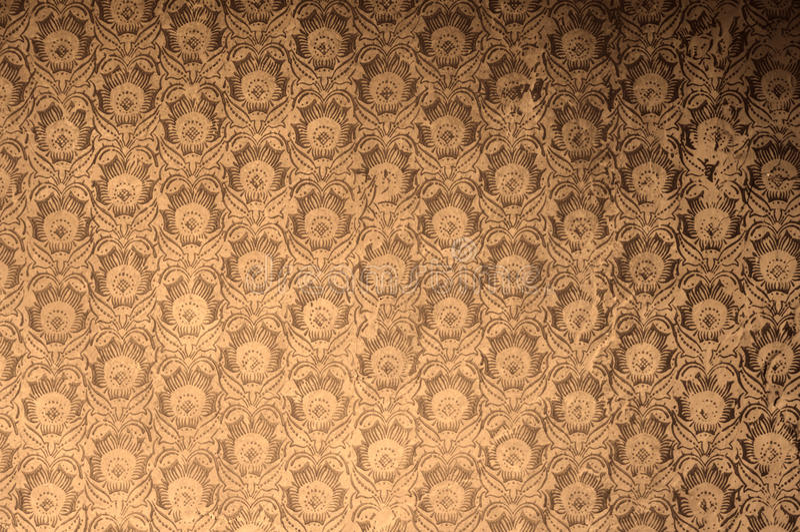L'antiquité de vintage a survécu au papier peint floral dans le rétro filtre polaroïd d'effet photos stock