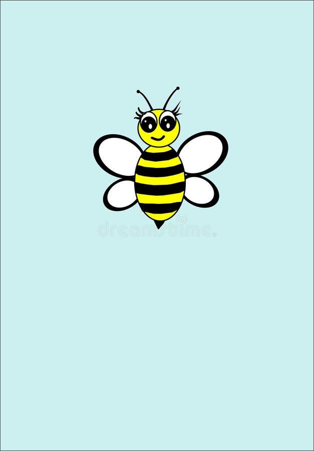 L'ape gialla nell'aria fotografia stock
