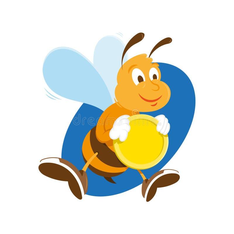L'ape tiene la moneta di oro royalty illustrazione gratis