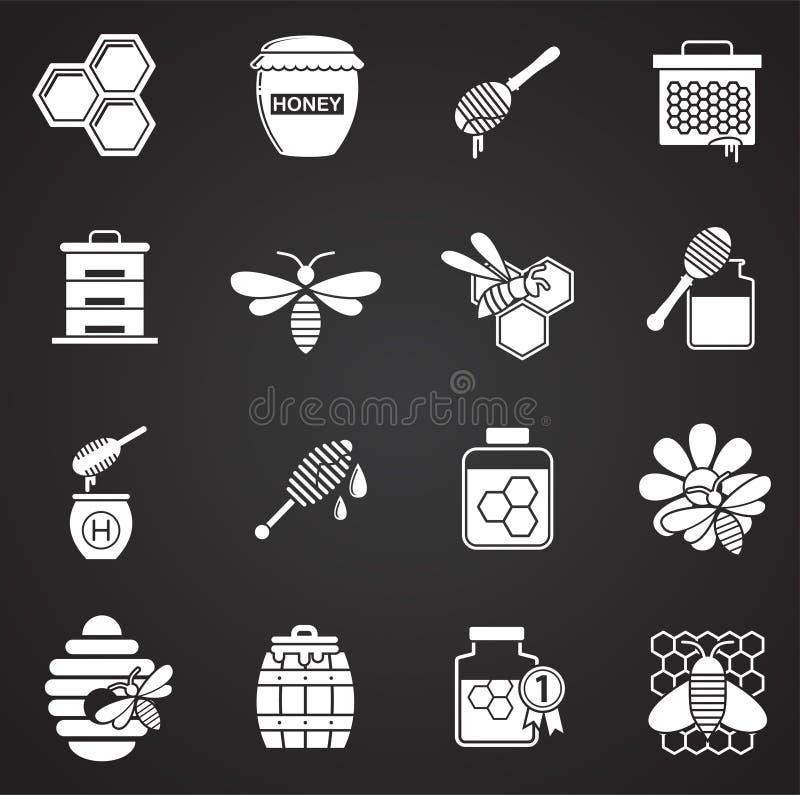 L'apiculture a rapporté des icônes réglées sur le fond pour le graphique et la conception web Illustration simple Symbole de conc illustration libre de droits