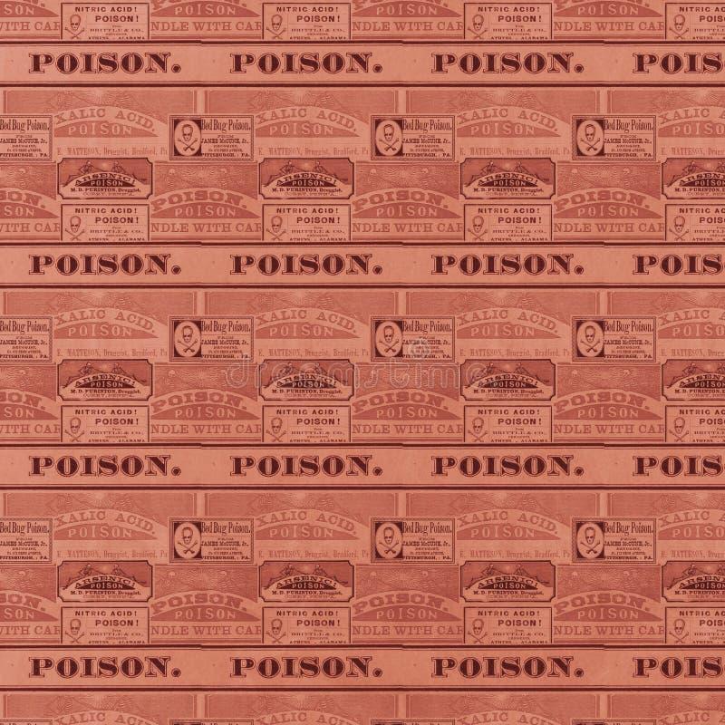 L'apothicaire de vintage marque - des labels de poison - Halloween - papier de Digital - Goth - macabre illustration de vecteur