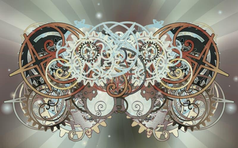 L'apparecchio complicato meccanico royalty illustrazione gratis
