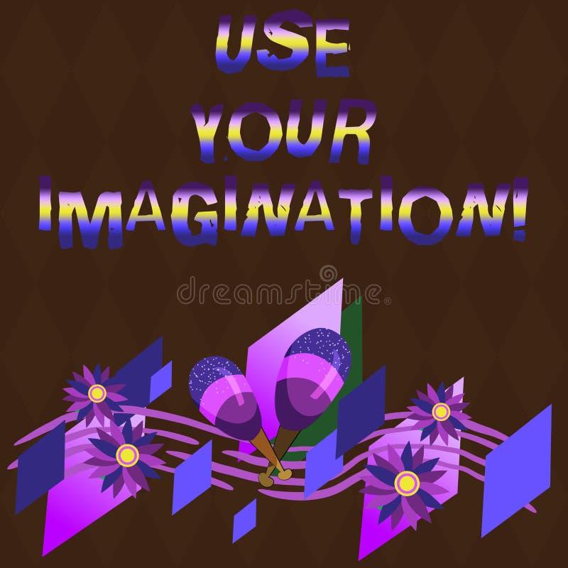 L'apparence conceptuelle d'écriture de main emploient votre imagination Photo d'affaires présentant utilisant la capacité de form illustration de vecteur
