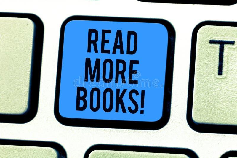 L'apparence conceptuelle d'écriture de main a lu plus de livres Texte de photo d'affaires augmenter votre degré d'instruction pou illustration de vecteur
