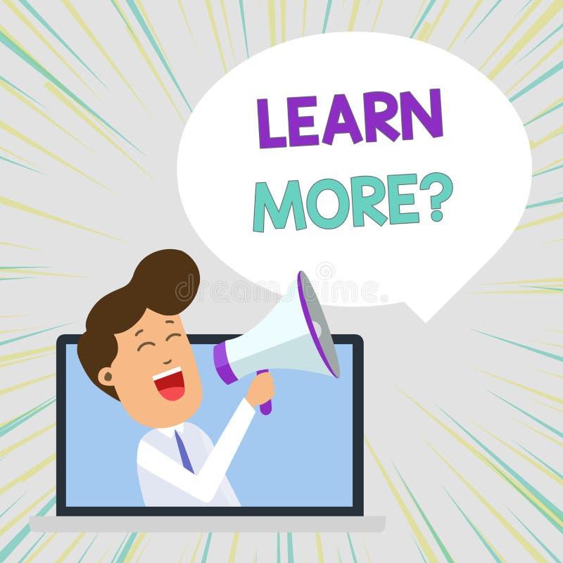 L'apparence conceptuelle d'?criture de main apprennent plus de question La connaissance ou compétence de gain des textes de photo illustration libre de droits