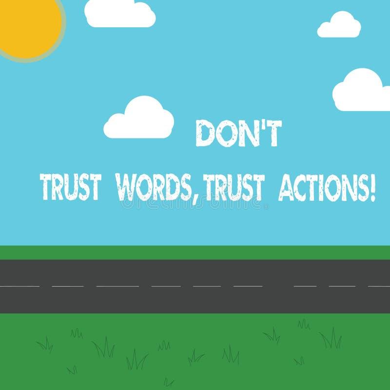 L'apparence conceptuelle Don T d'écriture de main font confiance à des actions de confiance de mots Photo d'affaires présentant p illustration libre de droits