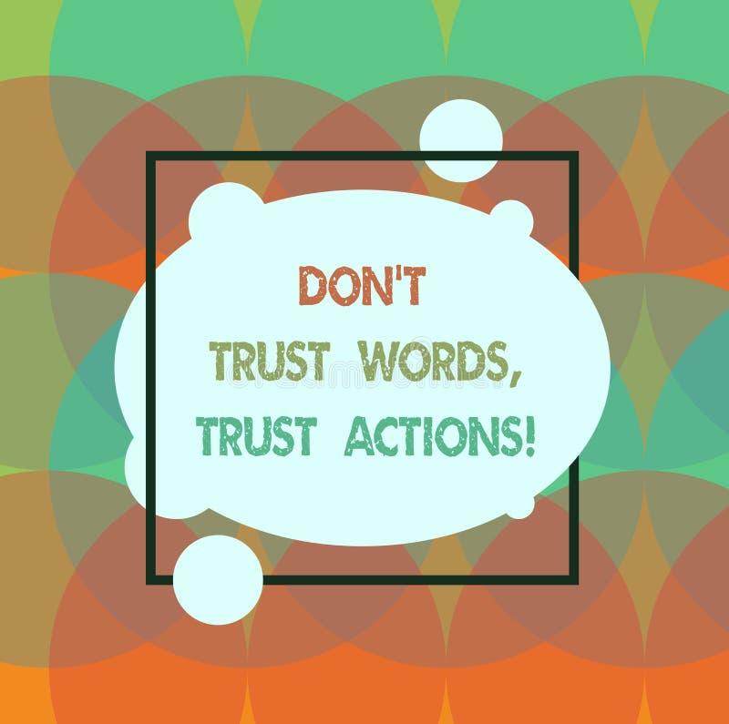 L'apparence conceptuelle Don T d'écriture de main font confiance à des actions de confiance de mots Texte de photo d'affaires moi illustration de vecteur