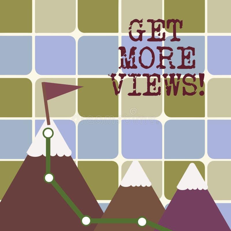 L'apparence de note d'écriture obtiennent plus de vues La présentation de photo d'affaires ont l'opinion ou la manière pensant à  illustration de vecteur