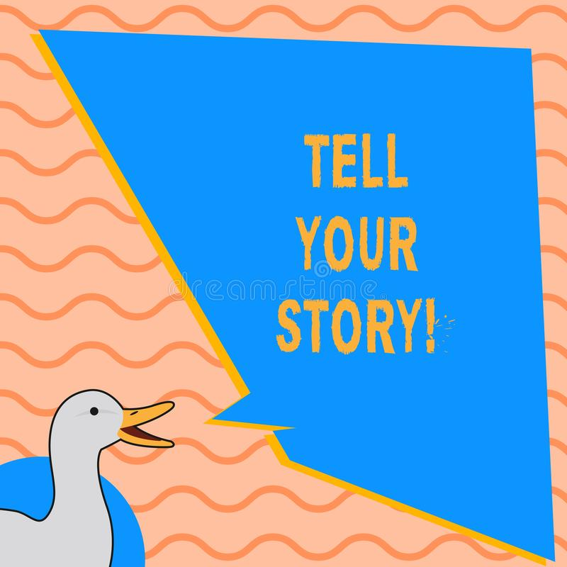 L'apparence de note d'écriture racontent votre histoire Photo d'affaires présentant exprimant vos sentiments relatant l'inscripti illustration de vecteur
