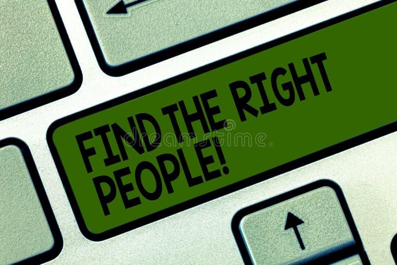 L'apparence de note d'écriture trouvent les personnes concernées La présentation de photo d'affaires recherchent une location de  image libre de droits