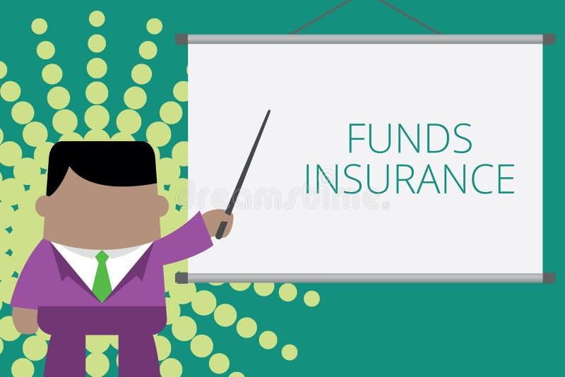 L'apparence de note d'?criture finance l'assurance La forme de pr?sentation de photo d'affaires d'investissement collectif a offe illustration stock