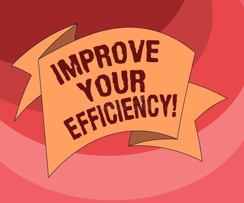 L'apparence de signe des textes améliorent votre efficacité Productivité conceptuelle d'augmentation de photo tout en sauvant tou illustration de vecteur